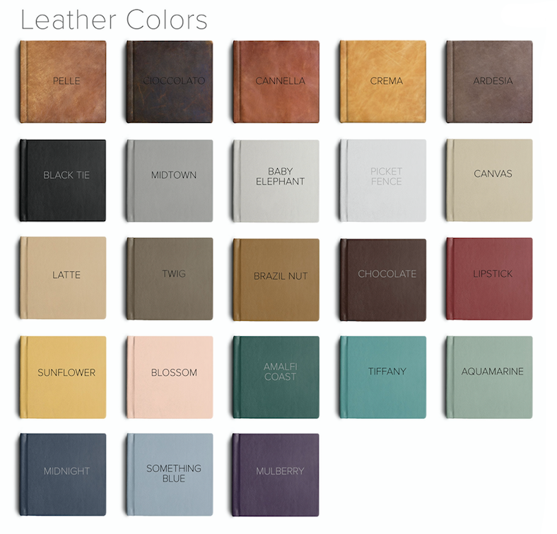 Text color indicates engraving color for that material.