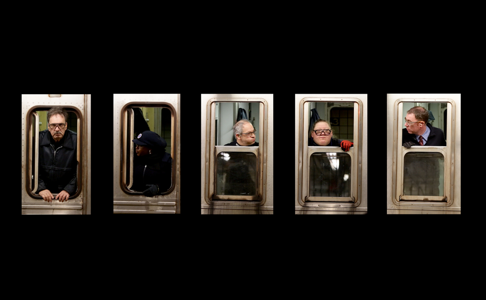 "NYC Subway Conductors from ""Haunted in New York"" video triptych"