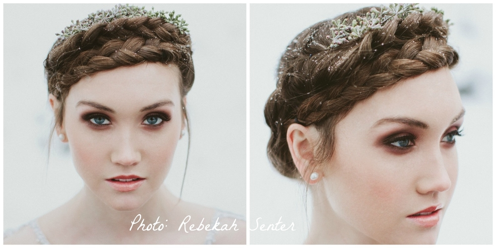 Braid Halo, Bronze Smokey Eye, Hair: Eve Whitington, Photographer: Rebekah Sentur