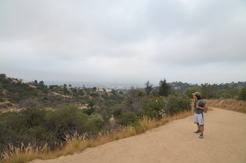 My handsome explorer takes in the view at LA's Griffith Park.