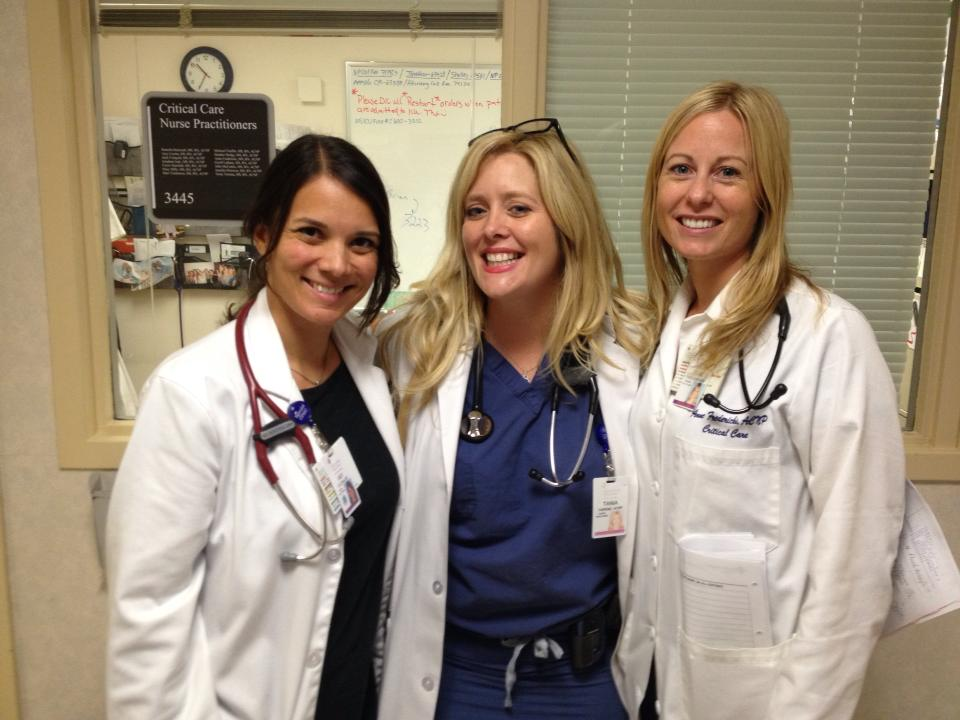 The Critical Care Nurse Practitioner Team:  Amy, Tania and Anne.