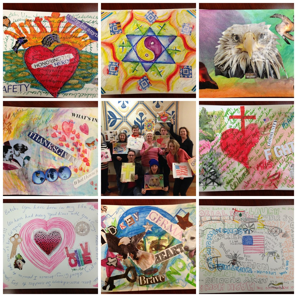 Paper collages from Hospice Nurses