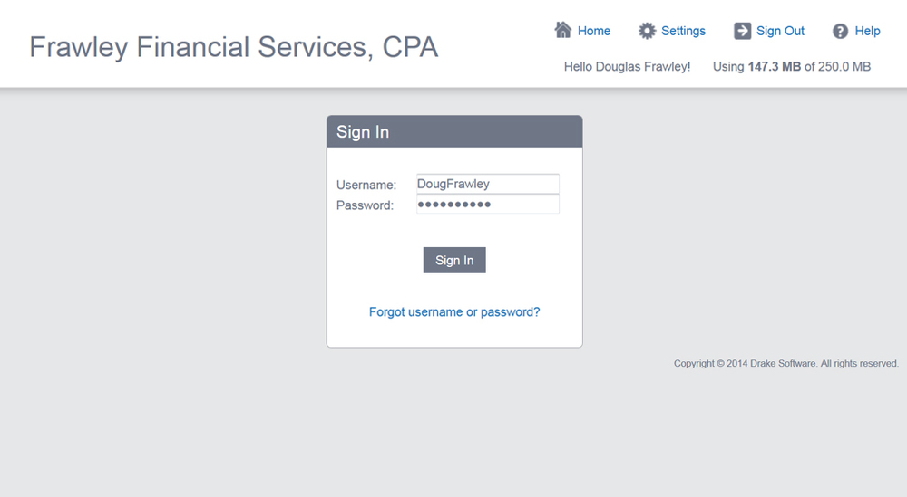 Step 1-  Create and sign into your new account.