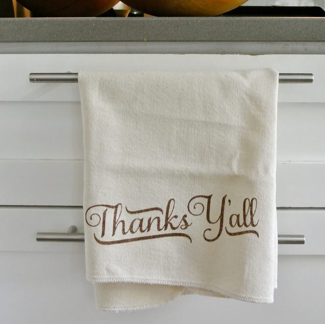 "Batch Nashville ""Thanks Y'all"" Towel Featured on Locklane Weddings & Events, Nashville Planner"