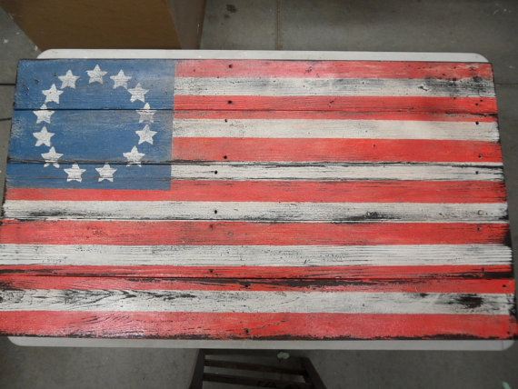 Locklane Weddings & Events, Nashville Planner | Rustic, Vintage American Flag for Patriotic Wedding Decor