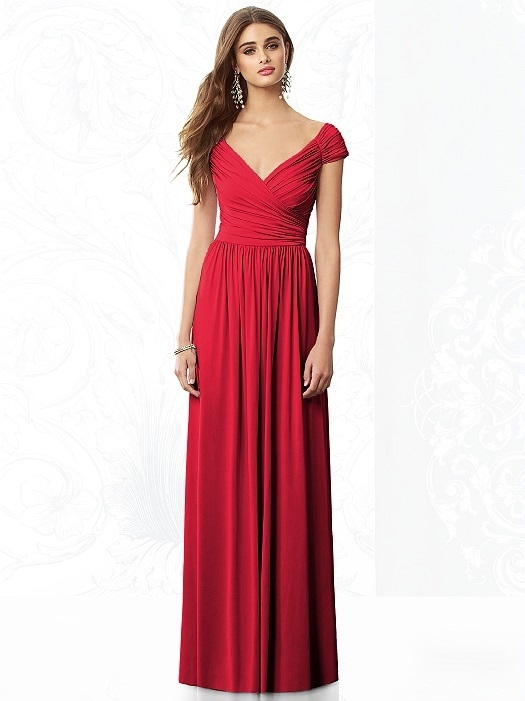 Locklane Weddings & Events, Nashville Planner | Cranberry Red, Floor Length Bridesmaid Dress