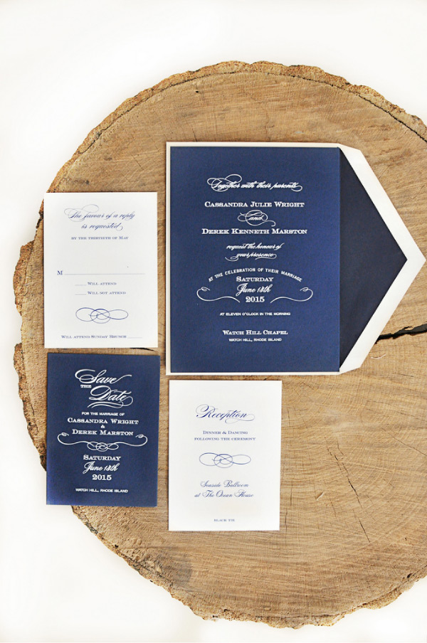 Locklane Weddings & Events, Nashville Planner | Navy and White Invitation Suite for a Patriotic Wedding