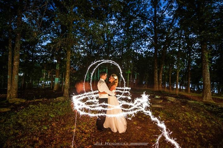 Locklane Weddings & Events, Nashville Planner | Photo by Joe Hendricks Photography - Painting with the Light of Sparklers