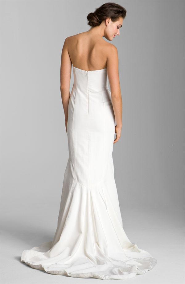 Locklane Weddings U0026amp; Events   Nicole Miller Strapless, Silk Faille Wedding  Gown