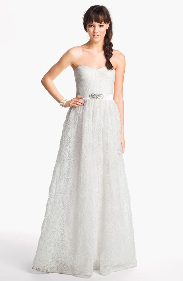 Locklane Weddings & Events | Inexpensive, Adrianna Papell Rosette Wedding Dress