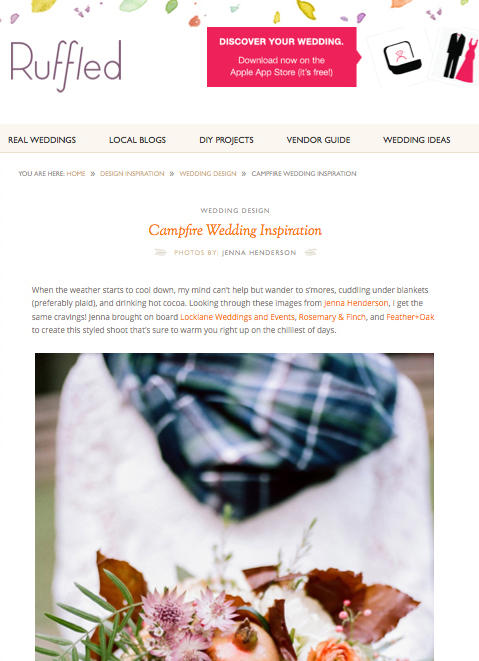 Locklane Weddings & Events on Ruffled Blog - Campfire Wedding Inspiration, Nashville Planner