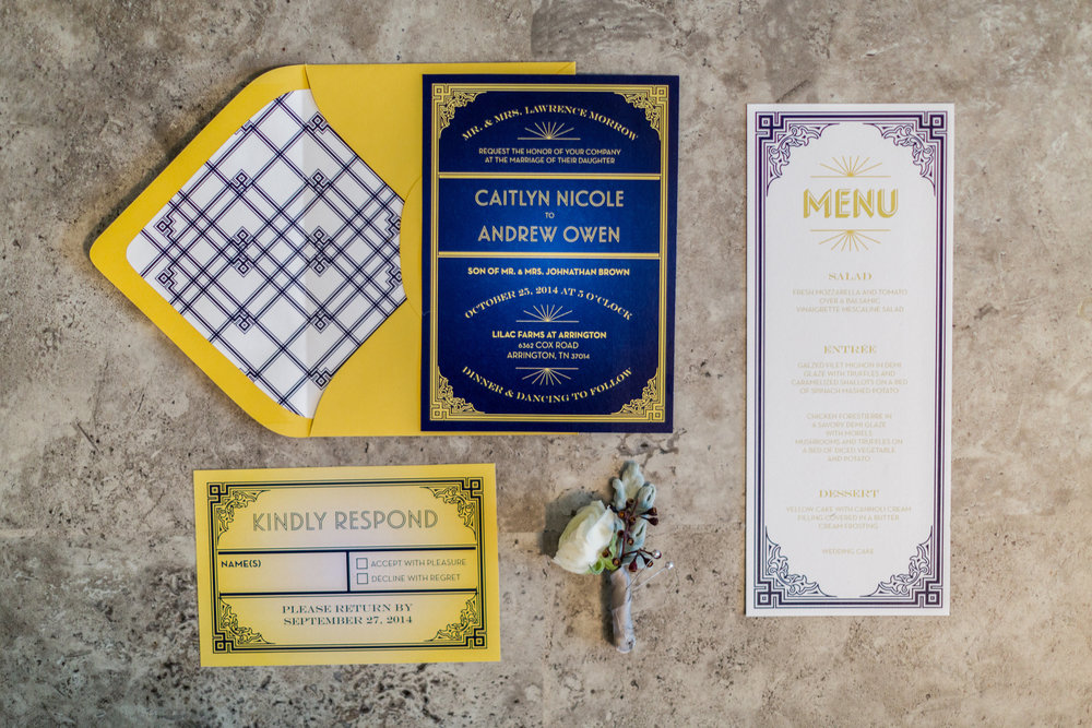 Vintage 1920s Art Deco Inspiration Shoot - Locklane Weddings & Events, Nashville Planner