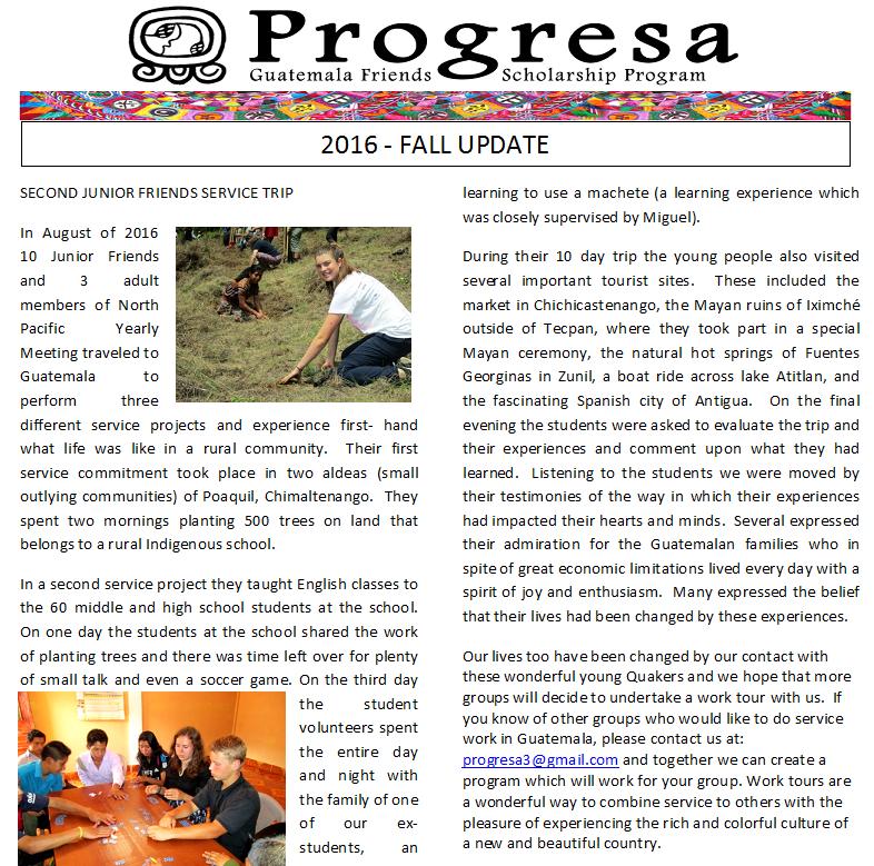 2016 fall update
