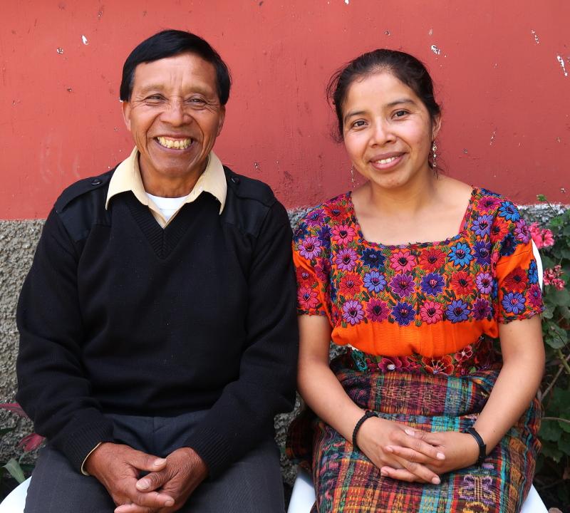 Anna María and her Papá