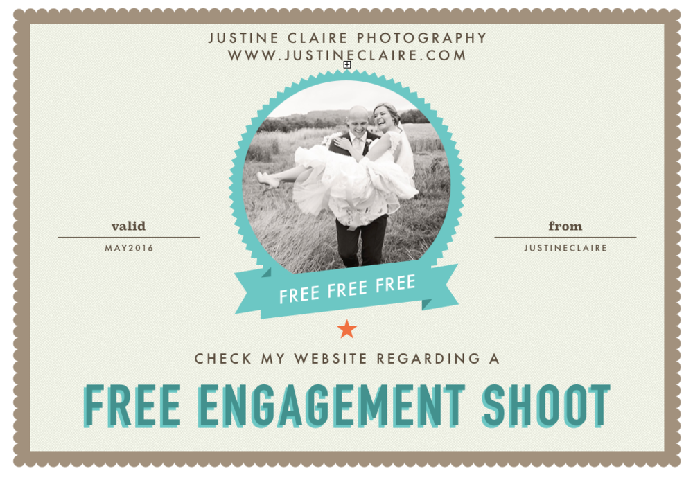Free Engagement shoot coupon