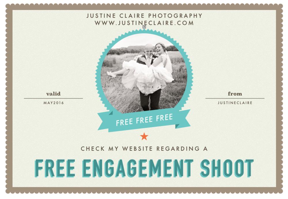 Free Engagement shoot coupon