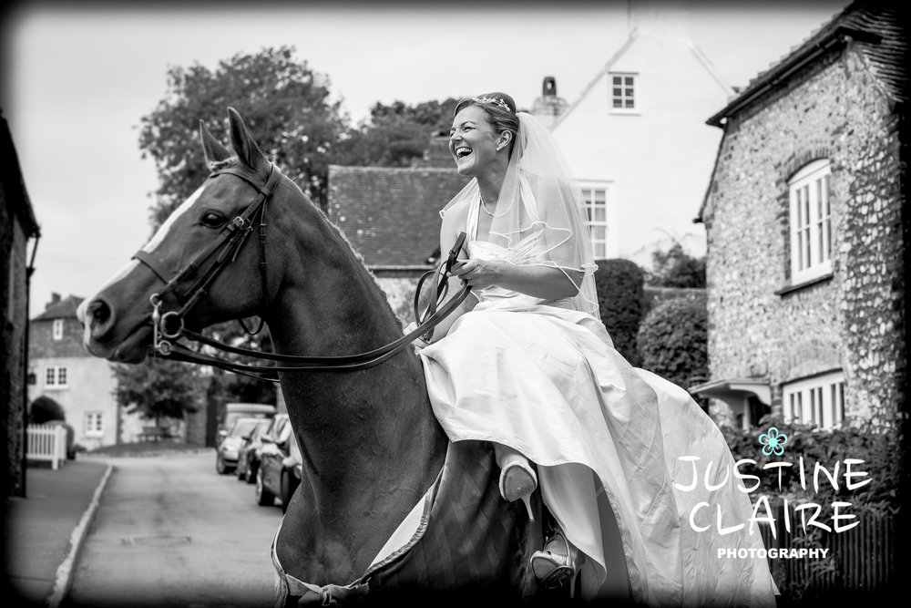 Chichester Slindon eastergate Wedding Photographers bride on a horse Photography1.jpg