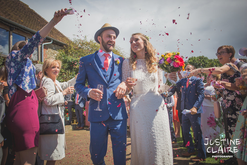 Confetti at Sussex Barn