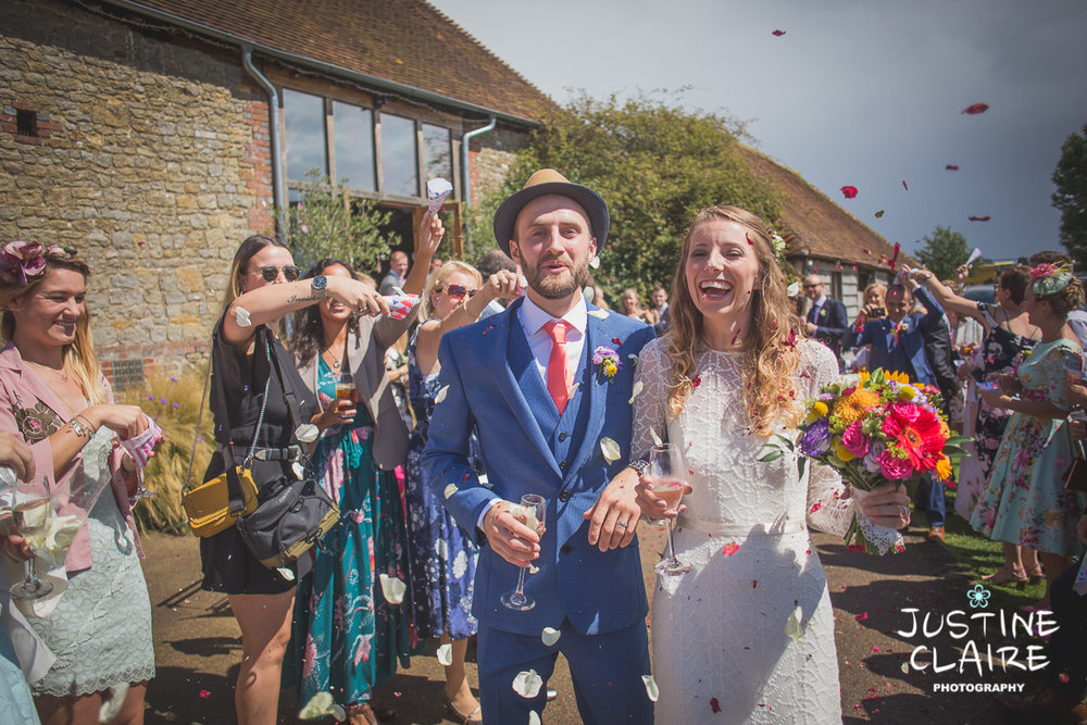 Confetti lineup at Sussex barn Grittenham