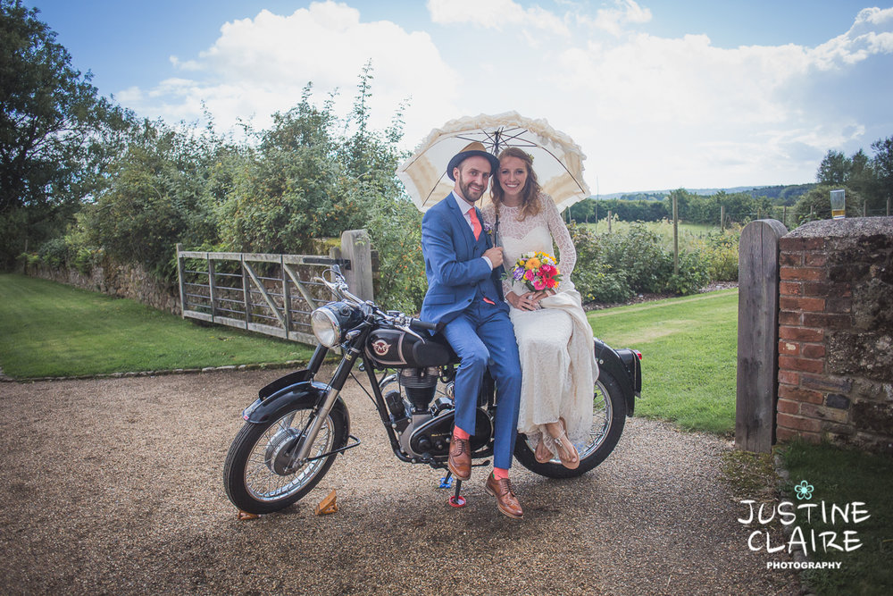 Motorbike at wedding sussex
