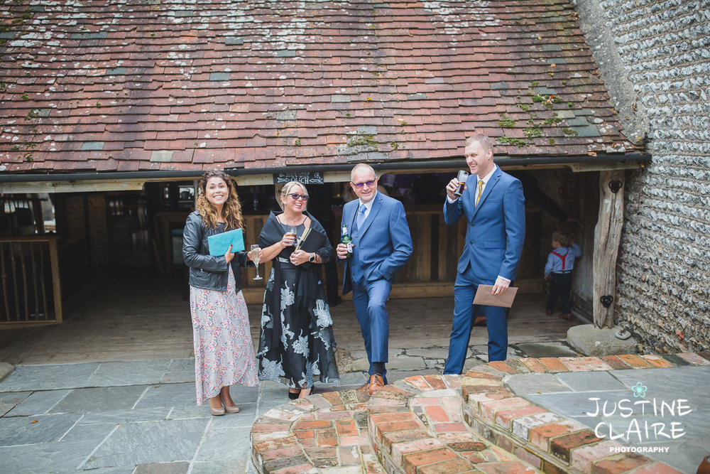 wedding photographer at Cissbury barn Findon Barn Venue Sussex reportage-3.jpg