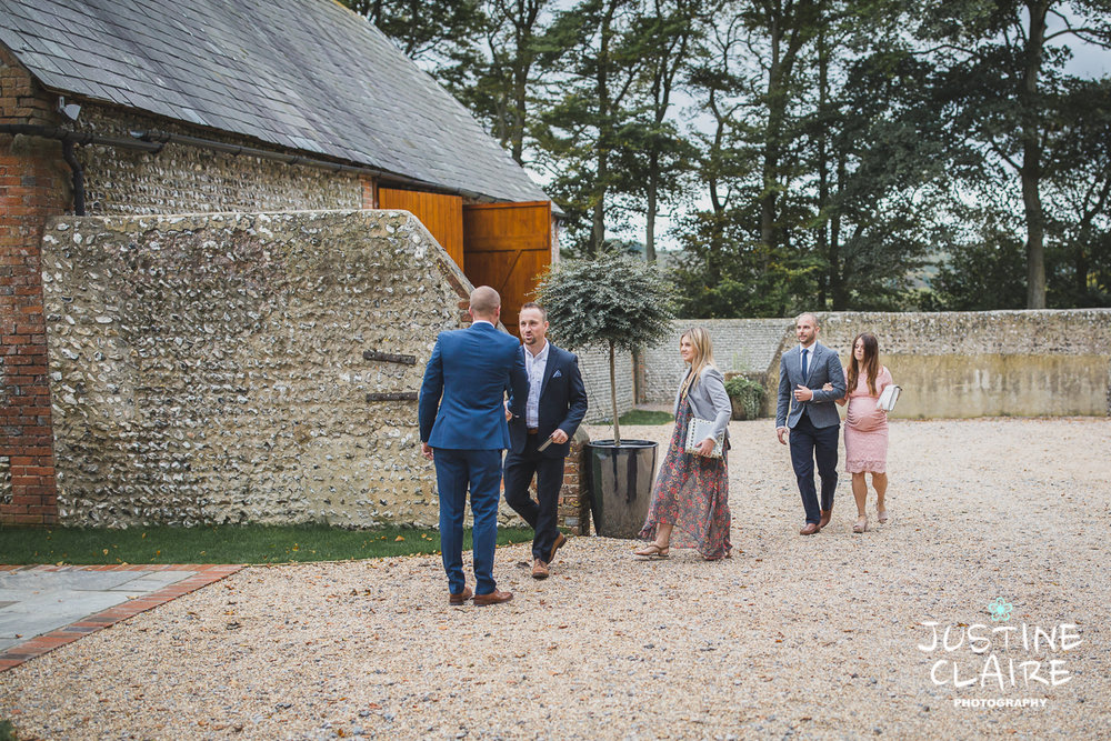 wedding photographer at Cissbury barn Findon Barn Venue Sussex reportage-10.jpg