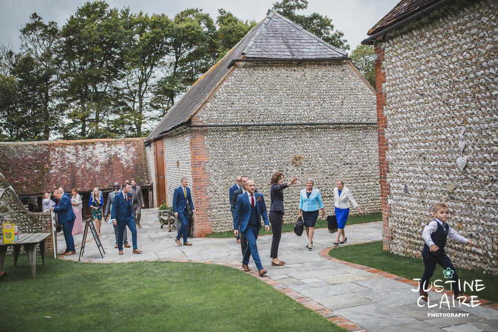 wedding photographer at Cissbury barn Findon Barn Venue Sussex reportage-11.jpg