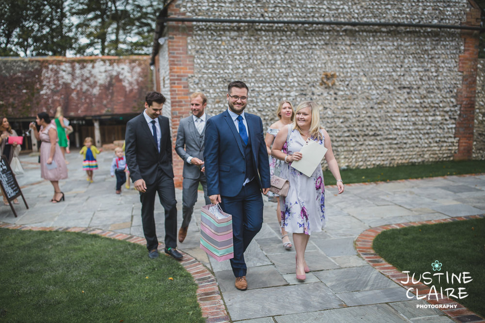 wedding photographer at Cissbury barn Findon Barn Venue Sussex reportage-15.jpg
