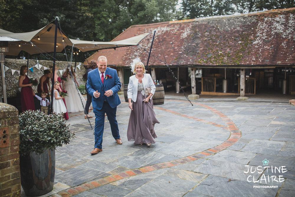 wedding photographer at Cissbury barn Findon Barn Venue Sussex reportage-22.jpg