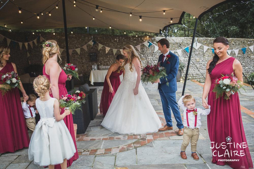 wedding photographer at Cissbury barn Findon Barn Venue Sussex reportage-23.jpg
