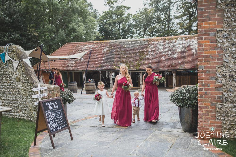 wedding photographer at Cissbury barn Findon Barn Venue Sussex reportage-24.jpg