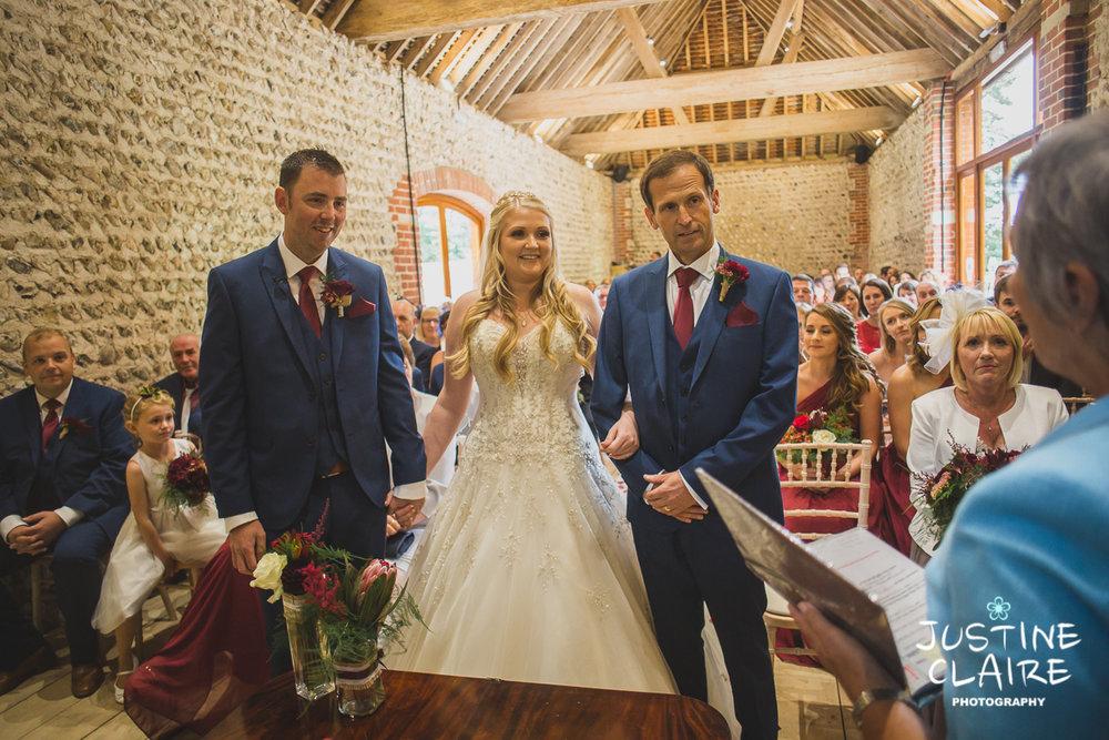 wedding photographer at Cissbury barn Findon Barn Venue Sussex reportage-29.jpg