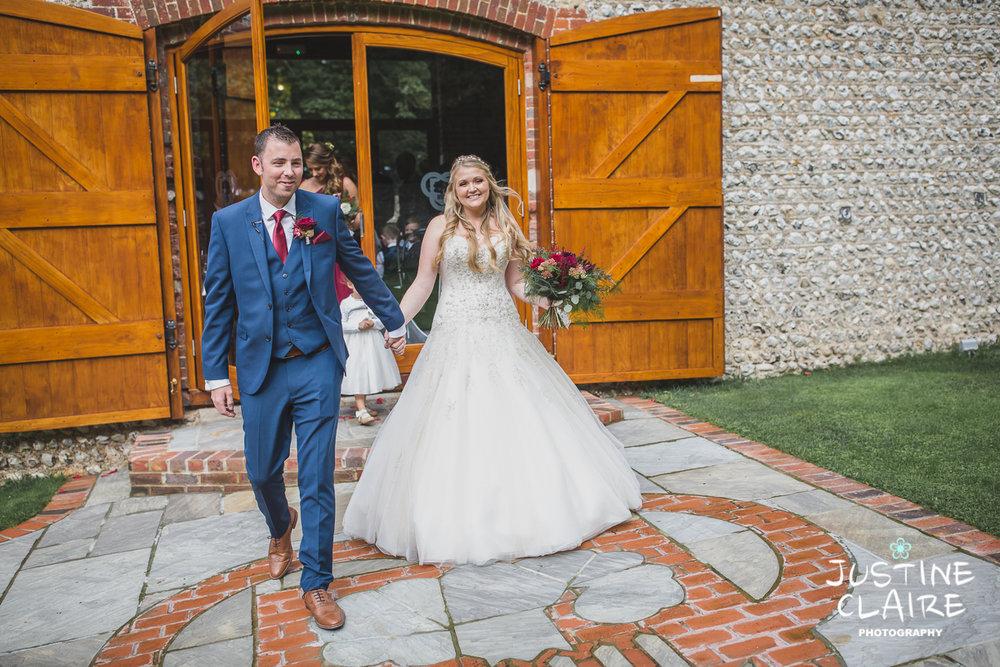 wedding photographer at Cissbury barn Findon Barn Venue Sussex reportage-32.jpg