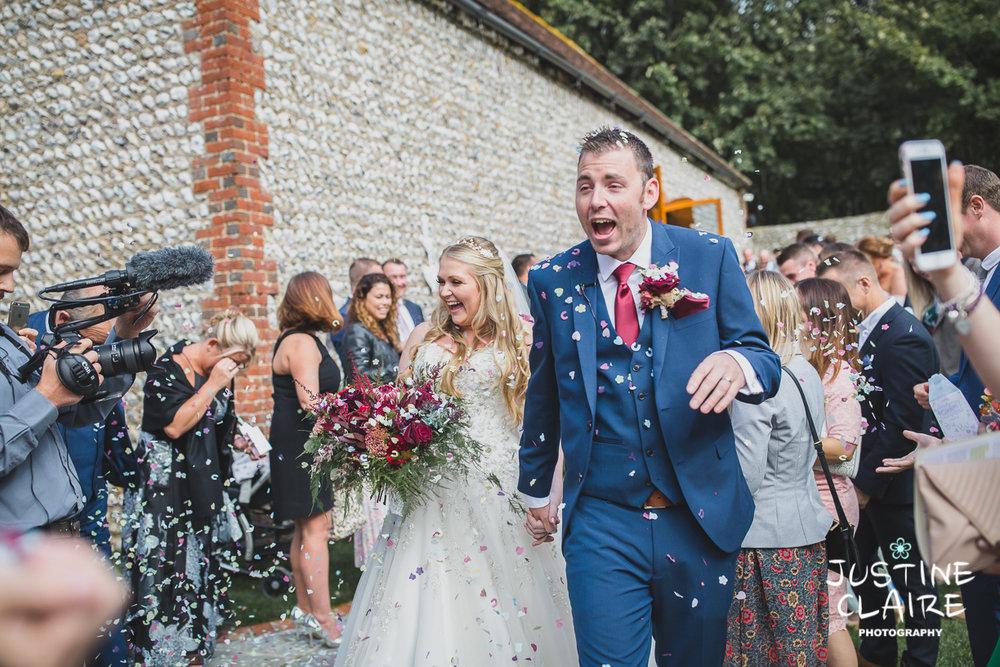 wedding photographer at Cissbury barn Findon Barn Venue Sussex reportage-41.jpg