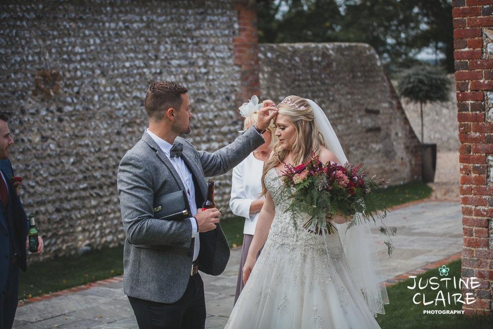 wedding photographer at Cissbury barn Findon Barn Venue Sussex reportage-49.jpg