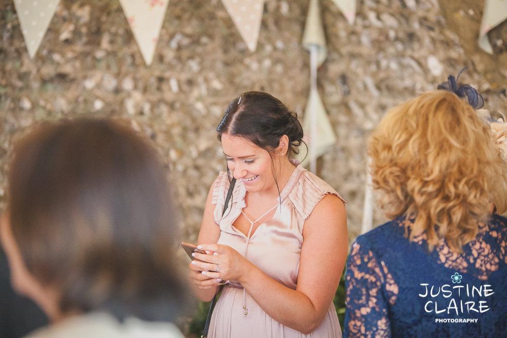 wedding photographer at Cissbury barn Findon Barn Venue Sussex reportage-57.jpg