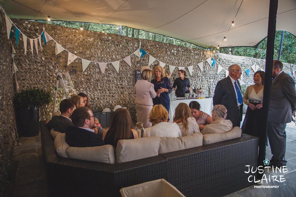 wedding photographer at Cissbury barn Findon Barn Venue Sussex reportage-58.jpg
