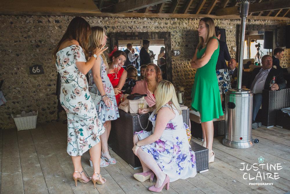 wedding photographer at Cissbury barn Findon Barn Venue Sussex reportage-79.jpg