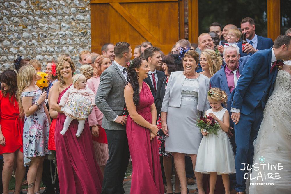 wedding photographer at Cissbury barn Findon Barn Venue Sussex reportage-93.jpg