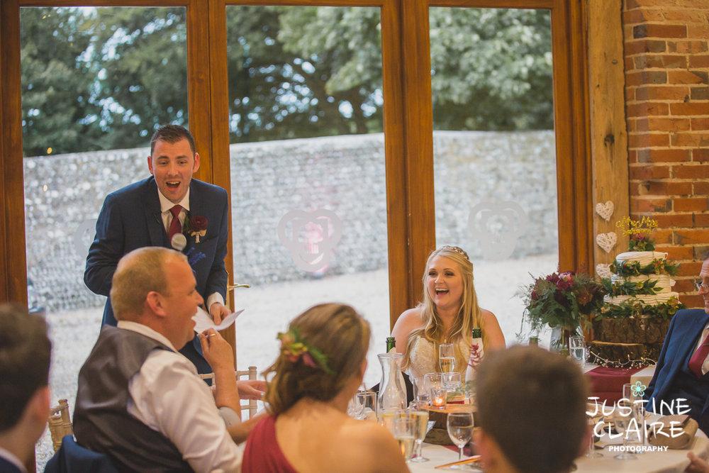 wedding photographer at Cissbury barn Findon Barn Venue Sussex reportage-122.jpg