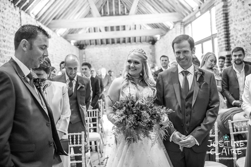 wedding photographer at Cissbury barn Findon Barn Venue Sussex reportage-27.jpg