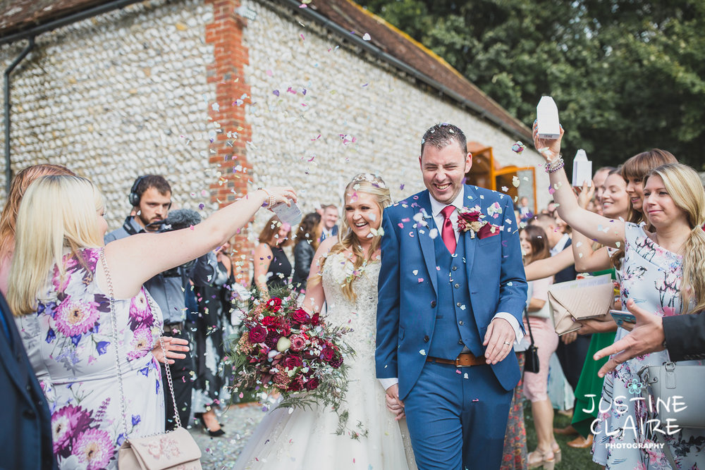 Gorgeous Bride - full of happiness at Cissbury Barns
