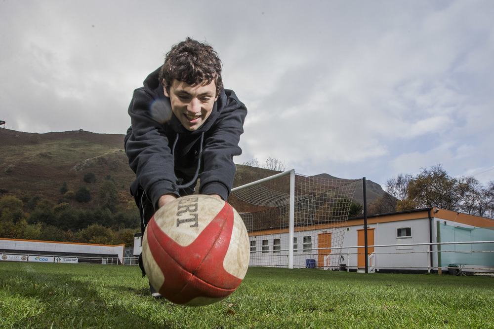 Bobi, 20, took part in a Vi-Ability programme 3 years ago, he now works for us full time on the Sports Recycling project. He's also completing his level 3 Rugby refereeing qualification.