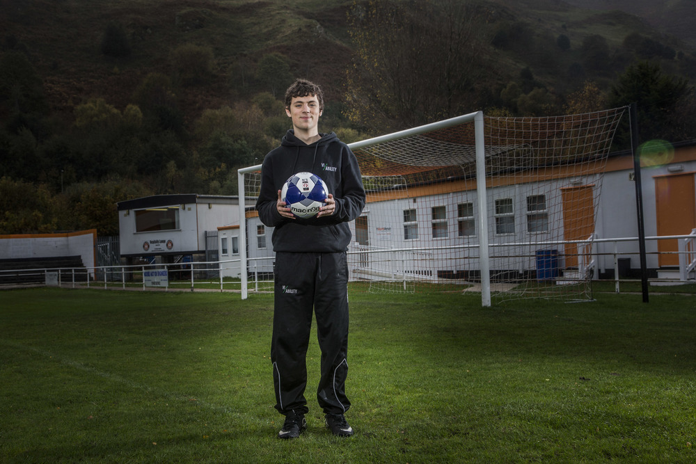 Bobi, 20, Vi-Ability 'Run The Club' graduate now employed full time and volunteers his skills at local sports clubs as a referee.