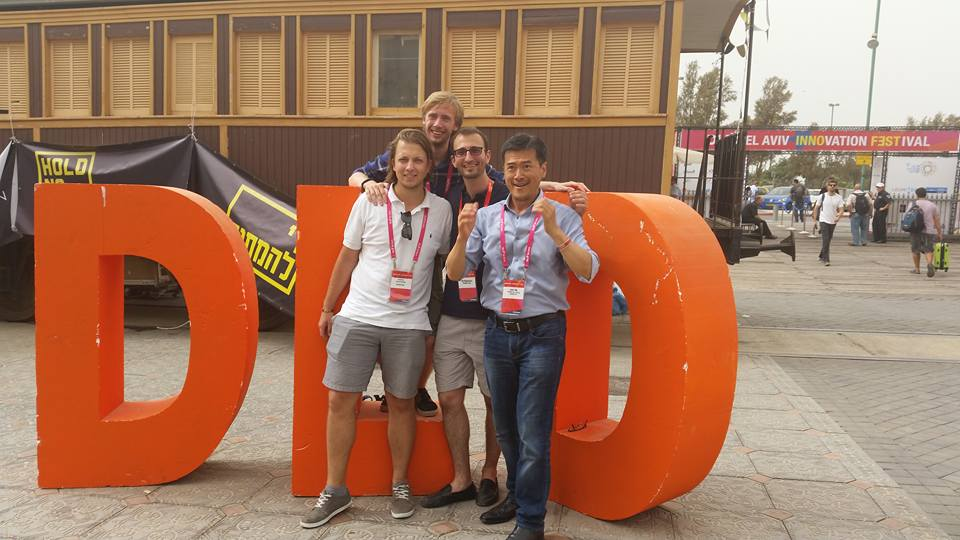 Visiting the DLD innovation festival in Israel.