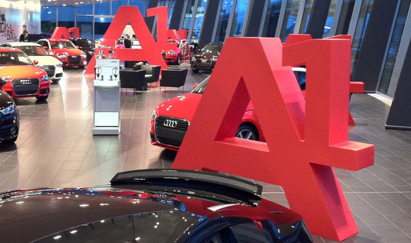 A1 signage for Audi.