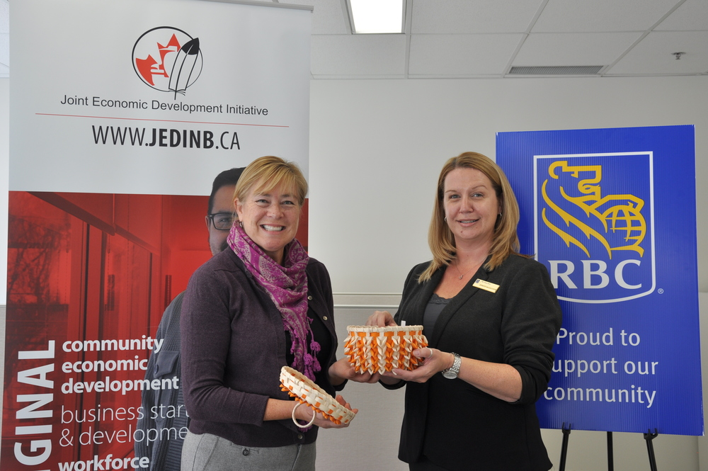 Lynn Poole-Hughes, CEO at JEDI and Jennifer MacEachern, Branch Manager at RBC Brookside Mall