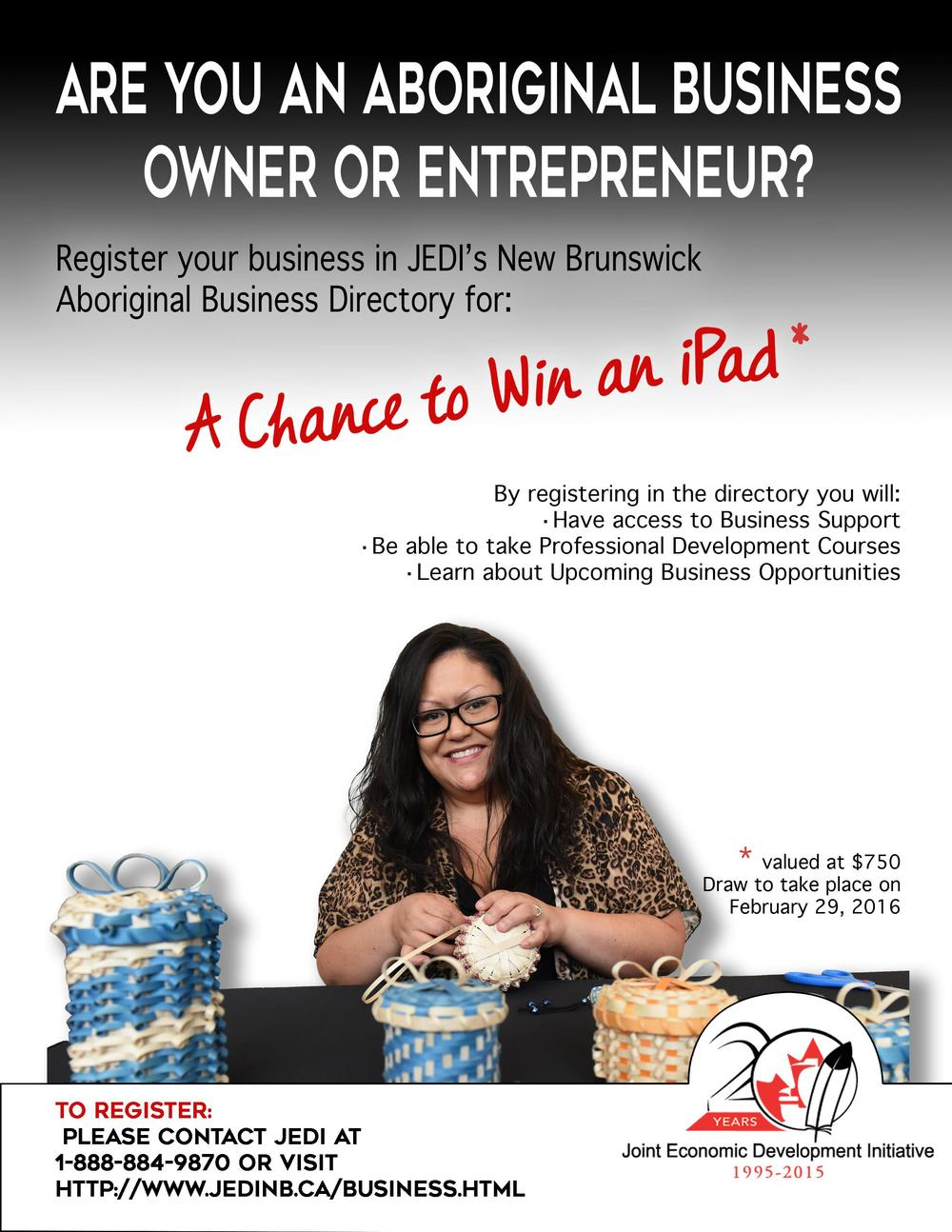 Aboriginal Business Owners Can Win an iPad