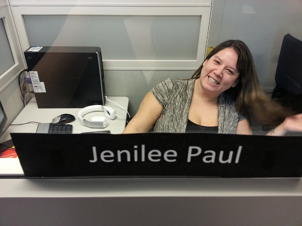 Jenilee Paul at her job placement with one of PQA's clients