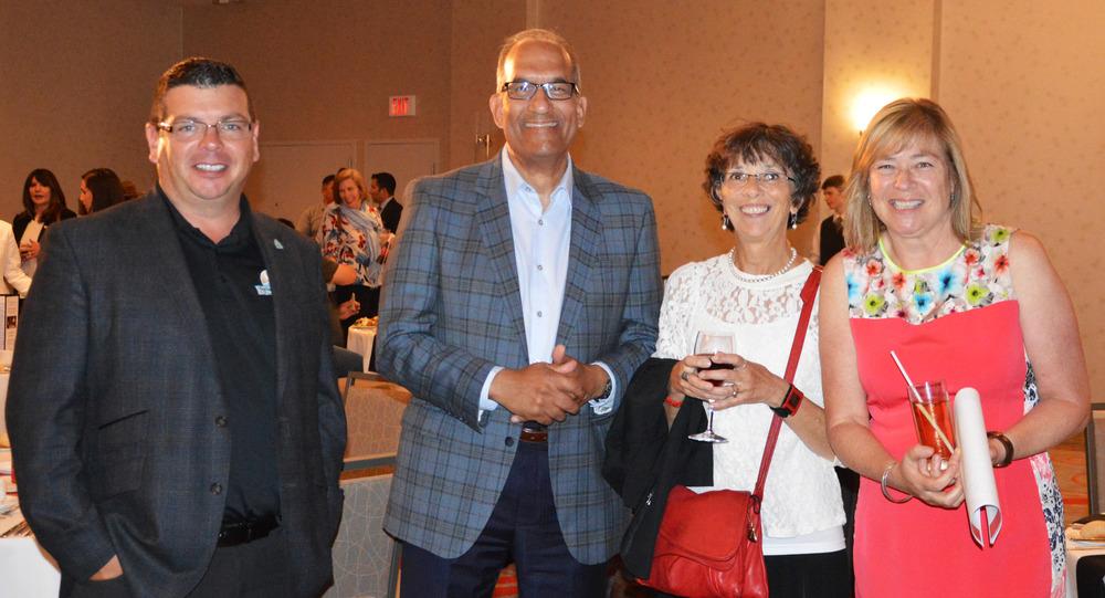 Left to right: Matt Jamieson, CEO of Six Nations Grand River Development Corporation, Chris Henderson, President of Lumos Clean Energy Advisors, Karen LeBlanc, Senior Project Manager of JEDI and Lynn Poole-Hughes, CEO of JEDI